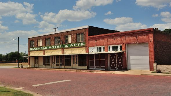 The Old Bankhead Hotel Building in Strawn Texas